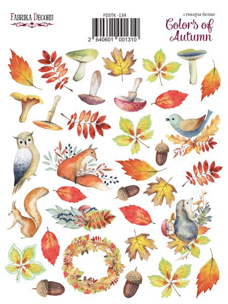 набор наклеек (стикеров) 35 шт colors of autumn #134 для ежедневника, ноутбука, блокнота и альбома купить дешево оптом и в розницу в магазине фабрика декору украина