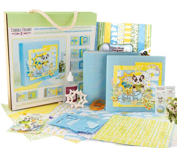 набор для создания детского фотоальбома baby boy #001