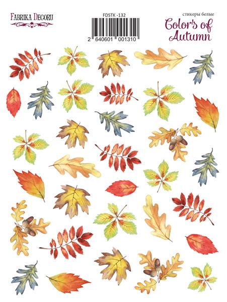 набор наклеек (стикеров) 35 шт colors of autumn #132 для ежедневника, ноутбука, блокнота и альбома купить дешево оптом и в розницу в магазине фабрика декору украина