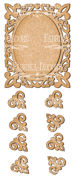 set of mdf elements for decorating #68
