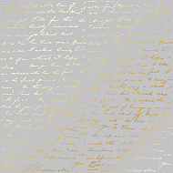 "Sheet of single-sided paper embossed by golden foil ""Golden Text Gray"""