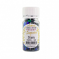 Sequins Stars, green with blue with nacre, #123