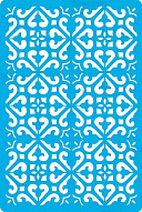 "Stencil for crafts 15x20cm ""Byzantine mini background style"" #319"