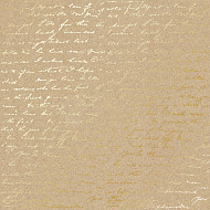 "Sheet of single-sided paper embossed by golden foil ""Golden Text Kraft"""