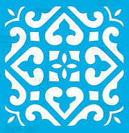 "Stencil for crafts 14x14cm ""Tile of Byzantine style 1"" #328"