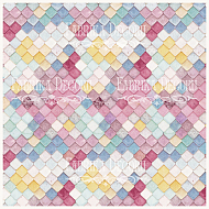 "deco vellum colored sheet ""colorful tiles"""