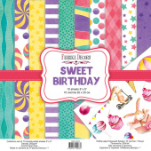 набор скрапбумаги sweet birthday 20x20 см 10 листов