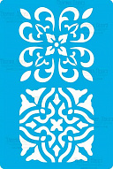 "Stencil for crafts 15x20cm ""Baroque ornament"" #322"