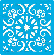 "Stencil for crafts 14x14cm ""Tile of ampire style"" #330"