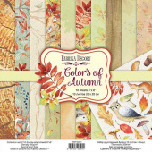 набор скрапбумаги colors of autumn 20x20 см 10 листов