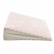 Blank album with a soft fabric cover Peas in pink 20сm х 20сm