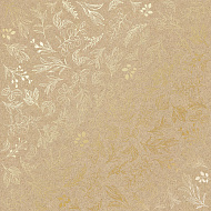 "Sheet of single-sided paper embossed by golden foil ""Golden Branches Kraft"""