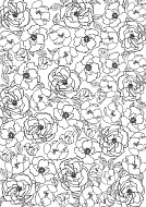 overlay flowers background 21х29,7 сm