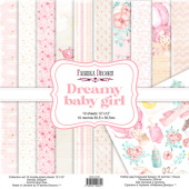 набор скрапбумаги dreamy baby girl 30,5x30,5 см 10 листов