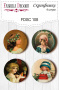 Flair buttons. Set of 4pcs #108
