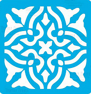 "Stencil for crafts 14x14cm ""Tile of Baroque style"" #327"