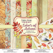 набор скрапбумаги colors of autumn 30,5x30,5 см 10 листов