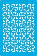 "Stencil for crafts 15x20cm ""Baroque style mini background"" #317"