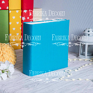 Blank album with a soft fabric cover Turquoise 20cm х 20cm