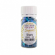 Sequins Stars, dark blue-green with nacre, #122
