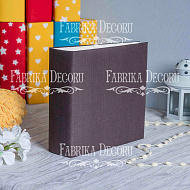 Blank album with a soft fabric cover Coffee 20cm х 20cm