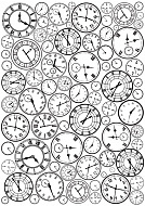 overlay clocks background 21х29,7 сm