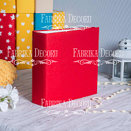 Blank album with a soft fabric cover Red 20cm х 20cm