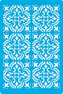"Stencil for crafts 15x20cm ""Empire style mini background"" #318"