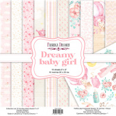 набор скрапбумаги dreamy baby girl 20x20 см 10 листов