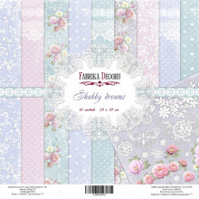 "Набор скрапбумаги ""Shabby Dreams"", 20 Х 20 см, Фабрика Декору"