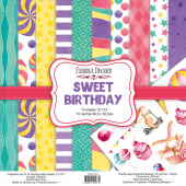 набор скрапбумаги sweet birthday 30,5x30,5 см 10 листов