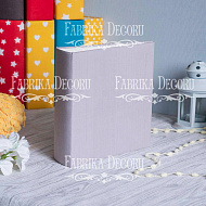 Blank album with a soft fabric cover Gray 20cm х 20cm