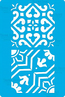 "Stencil for crafts 15x20cm ""Byzantine ornament"" #323"