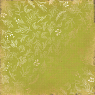 "Sheet of single-sided paper embossed by golden foil ""Golden Branches Light green"""