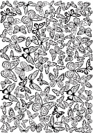 overlay butterflies background 21х29,7 сm